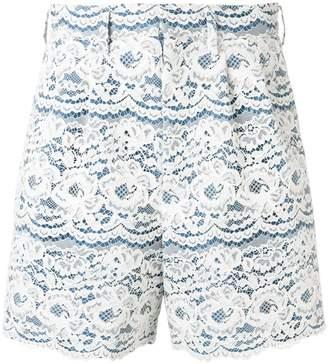 Junya Watanabe floral lace shorts