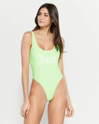 Juicy Couture Logo One-Piece Swimsuit