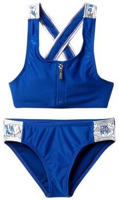 DKNY 2-Piece Sport Swimsuit (Big Girls)