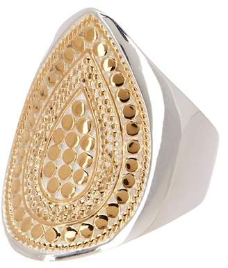 Anna Beck Two-Tone Signature Teardrop Ring