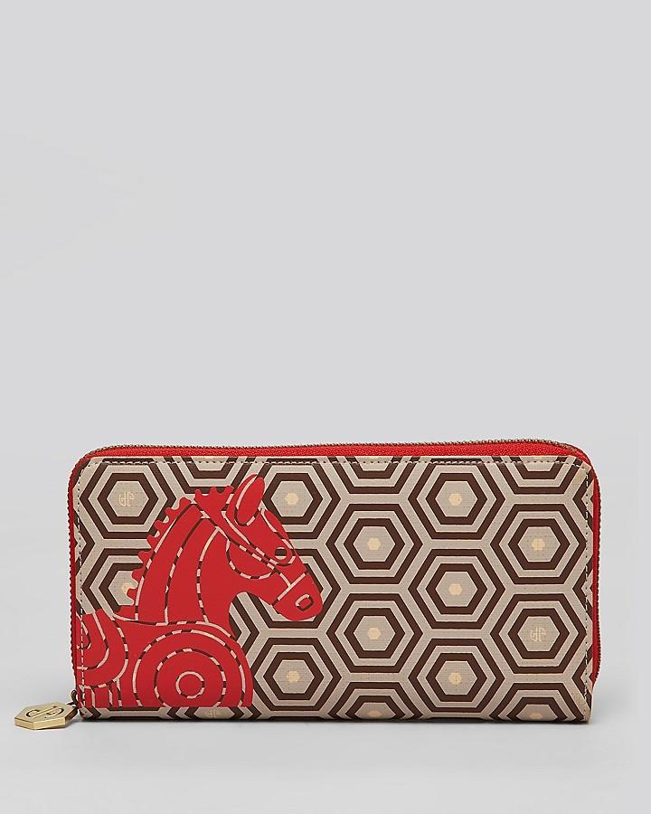Jonathan Adler Wallet - Printed Horse Continental Zip