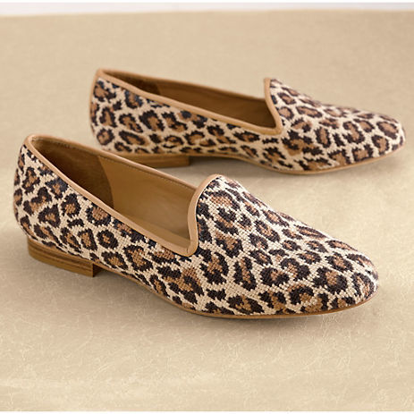 Gump's Leopard Needlepoint Loafers