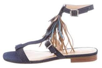 Brian Atwood Megan Denim Sandals w/ Tags