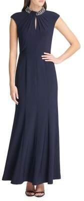 Vince Camuto Embellished Twist-Keyhole Maxi Dress
