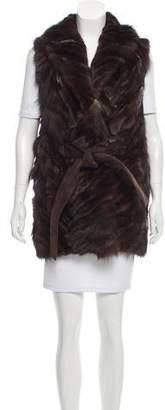 Pologeorgis Belted Fur Vest