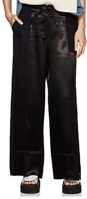 Sacai Women's Satin & Twill Wide-Leg Pants