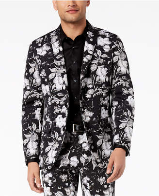 INC International Concepts I.n.c. Men's Slim-Fit Floral-Print Blazer, Created for Macy's