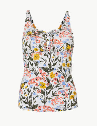 Marks and Spencer Floral Print Lace-up Tankini Top