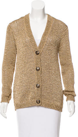 Tory BurchTory Burch Metallic Knit Cardigan