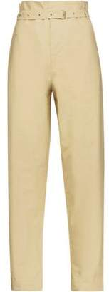 Isabel Marant Nesto Belted Cotton-Poplin Straight-Leg Pants