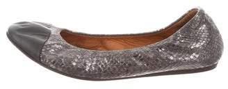 Lanvin Embossed Cap-Toe Flats