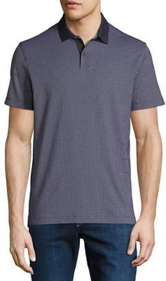 Theory Men's Sillar Jacquard Standard Polo Shirt