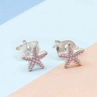 Hurleyburley Junior Girl's Tiny Sterling Silver Starfish Earrings