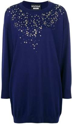 Moschino studs and stars sweater dress