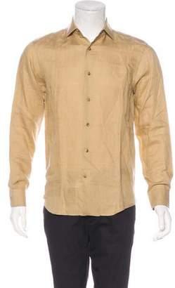 Ralph Lauren Purple Label Patterned Button-Up Shirt w/ Tags