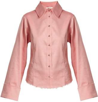 Marques Almeida MARQUES'ALMEIDA Raw-hem cotton-chambray shirt