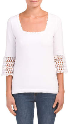 Crochet Bell Sleeve Sweater