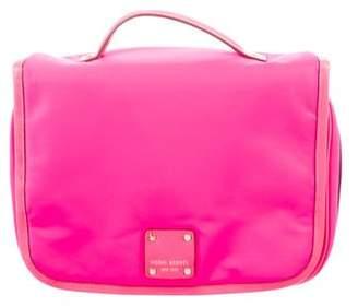 Henri Bendel Leather-Trimmed Nylon Cosmetic Bag