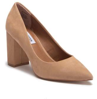 Steve Madden Ashlyn Nubuck Leather Block Heel Pump