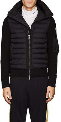 Moncler Men's Tech-Fabric & Wool-Blend Down Hooded Jacket