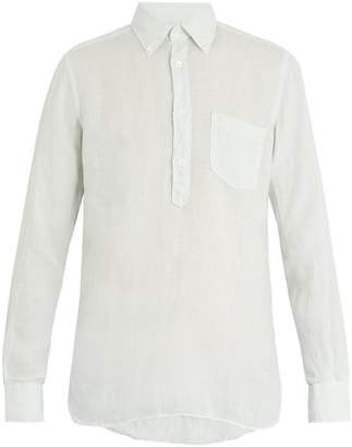 Glanshirt Eric button-down collar linen shirt