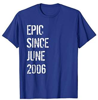 Born In June 2006 Birthday Gift T-Shirt 12 Year Old Gift