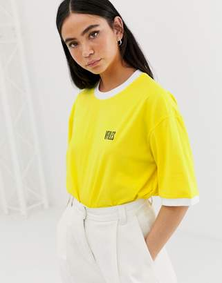 Vfiles VFILES Logo T-Shirt In Yellow