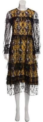 Burberry Long Sleeve Lace Dress