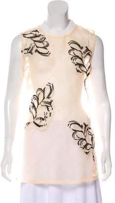 3.1 Phillip Lim Sheer Embellished Top