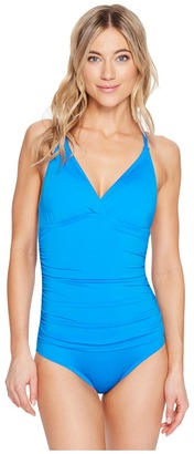 Jantzen - Solids Macrame One-Piece Women's Swimsuits One Piece $120 thestylecure.com