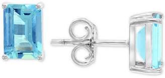 Effy Aquamarine Stud Earrings (1-9/10 ct. t.w.) in 14k White Gold