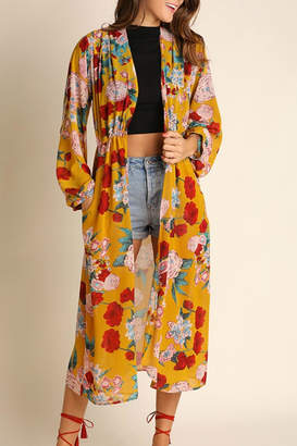 Umgee USA Floral Bohemian Kimono $62 thestylecure.com
