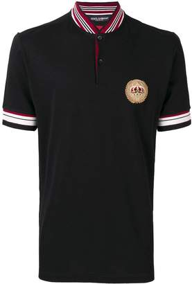 Dolce & Gabbana crown crest patch polo shirt