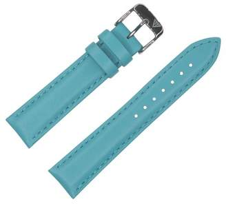 Dakota 16mm Genuine Leather Watch Band with Metal Buckle