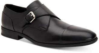 Calvin Klein Men's Lucus Dress Leather Monk Strap Loafer Men's Shoes
