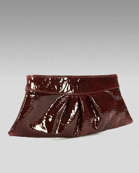 Lauren Merkin Eve Patent Clutch, Burgundy