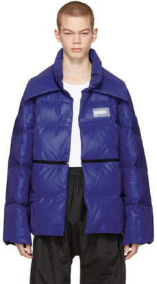 Off-White Blue Reflective Puffer Jacket