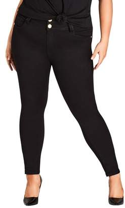 City Chic Asha Ankle Skinny Jeans