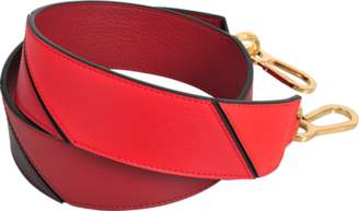 Loewe Degradee Bag Strap in Red Multitone Calfskin