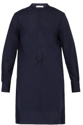 Palmer Harding Palmer//Harding Palmer//harding - Paul Grandad Collar And Bib Cotton Tunic Shirt - Mens - Navy