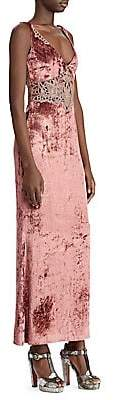 Ralph Lauren Women's 50th Anniversary Annetta Velvet Evening Dress