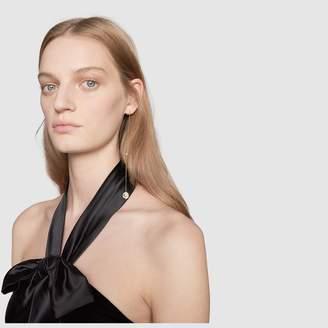 Gucci Single interlocking G pearl pendant earring