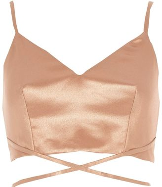 River Island Womens Gold strappy cami bralet