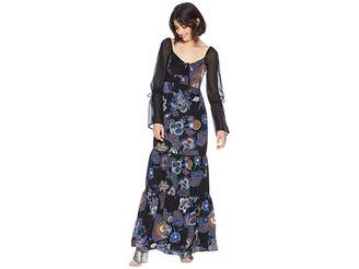 Juicy Couture Silk Romanov Floral Maxi Dress Women's Dress