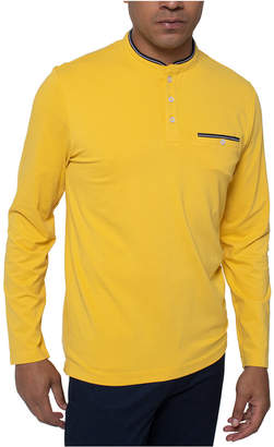 Kenneth Cole Men Solid Long Sleeve Henley