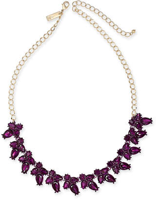 """INC International Concepts I.N.C. Gold-Tone Crystal Flower Necklace, 18"""" + 3"""" extender, Created for Macy's"""