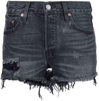 Levi's frayed denim shorts $59.50 thestylecure.com