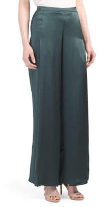 Recycled Silk Ines Wide Leg Pants
