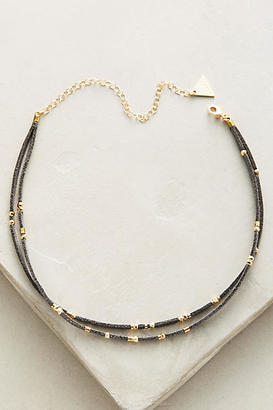 Serefina Layered Suede Choker Necklace $38 thestylecure.com