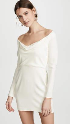 Mason by Michelle Mason Off Shoulder Cowl Mini Dress